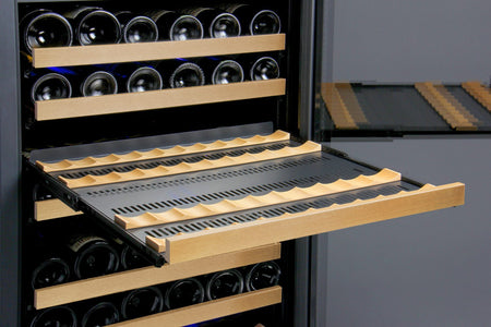 "Allavino 172 Bottles Allavino VSWR172-2BL20 Wine Refrigerator 24"" Wide 172 Bottle FlexCount II Series Dual Zone Black"