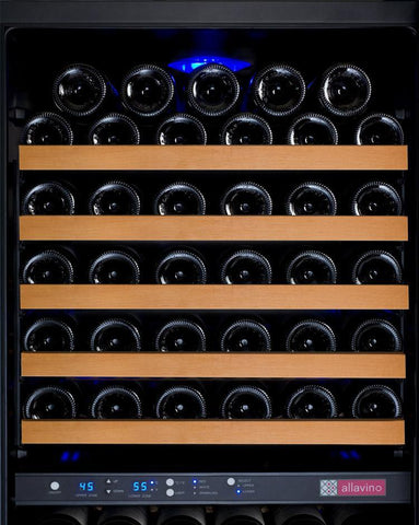 "Image of Allavino 172 Bottles Allavino VSWR172-2BL20 Wine Refrigerator 24"" Wide 172 Bottle FlexCount II Series Dual Zone Black"