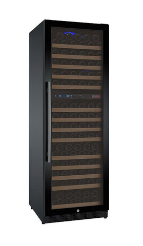 "Image of Allavino 172 Bottles Right Allavino VSWR172-2BL20 Wine Refrigerator 24"" Wide 172 Bottle FlexCount II Series Dual Zone Black"