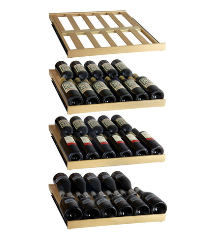 "Allavino 174 Bottles Allavino YHWR174-1SL20 Wine Refrigerator 24"" Wide 174 Bottle FlexCount Classic Single Zone Stainless Steel"