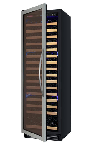 "Allavino 174 Bottles Left Allavino YHWR174-1SL20 Wine Refrigerator 24"" Wide 174 Bottle FlexCount Classic Single Zone Stainless Steel"