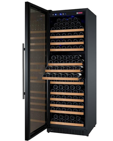 "Allavino 177 Bottles Allavino VSWR177-1BL20 Wine Refrigerator 24"" Wide 177 Bottle FlexCount II Series Single Zone Black"