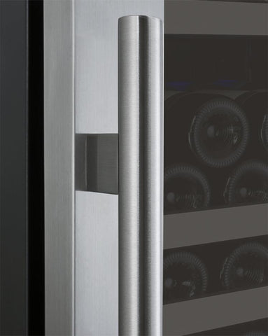 "Allavino 177 Bottles Allavino VSWR177-1SL20 Wine Refrigerator 24"" Wide 177 Bottle FlexCount II Series Single Zone Stainless Steel"