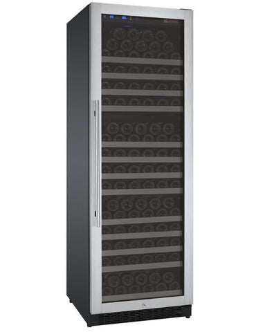 "Image of Allavino 177 Bottles Right Allavino VSWR177-1SL20 Wine Refrigerator 24"" Wide 177 Bottle FlexCount II Series Single Zone Stainless Steel"