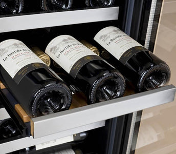 "Allavino 30 Bottles Allavino VSWR30-2SR20 Wine Cooler 15"" Wide 30 Bottle FlexCount II Series Dual Zone Stainless Steel"