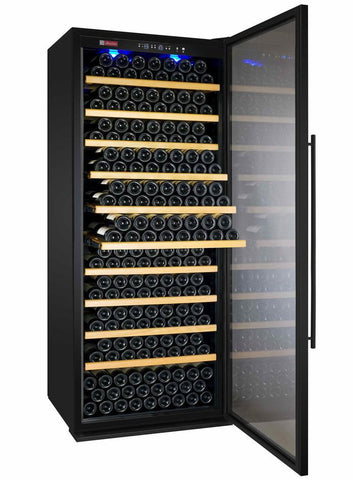"Image of Allavino 305 Bottles Allavino YHWR305-1BR20 Wine Refrigerator 32"" Wide 305 Bottle Vite II Tru-Vino Single Zone Black"