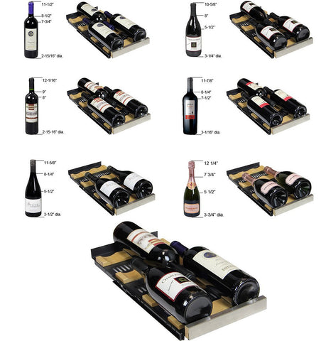 "Image of Allavino 36 Bottles Allavino VSWR36-2BF20 Wine Refrigerator 24"" Wide 36 Bottle FlexCount II Series Dual Zone Black"