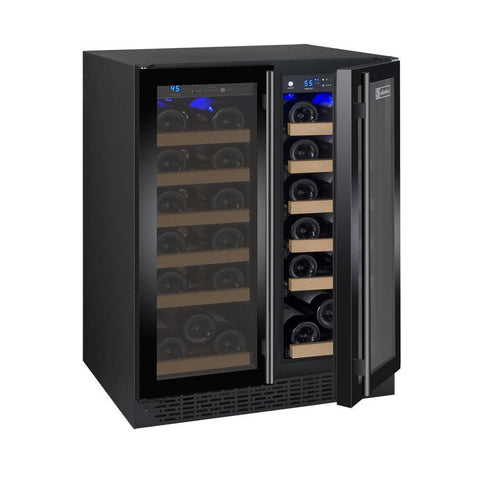 "Allavino 36 Bottles Black Allavino VSWR36-2BF20 Wine Refrigerator 24"" Wide 36 Bottle FlexCount II Series Dual Zone Black"