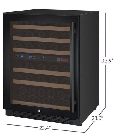 "Image of Allavino 56 Bottles Allavino VSWR56-2BL20 Wine Refrigerator 24"" Wide 56 Bottle FlexCount II Series Dual Zone Black"