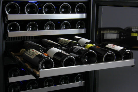 "Image of Allavino 56 Bottles Allavino VSWR56-2SL20 Wine Refrigerator 24"" Wide 56 Bottle FlexCount II Series Dual Zone Stainless Steel"