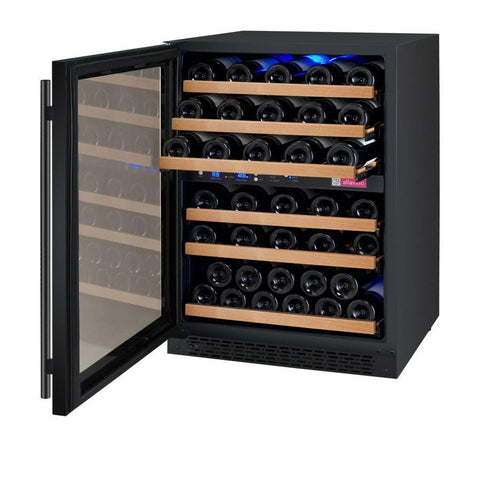 "Image of Allavino 56 Bottles Left Allavino VSWR56-2BL20 Wine Refrigerator 24"" Wide 56 Bottle FlexCount II Series Dual Zone Black"