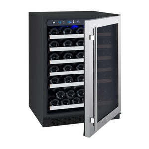 "Allavino 56 Bottles Right Allavino VSWR56-1SL20 Wine Refrigerator 24"" Wide 56 Bottle FlexCount II Series Single Zone Stainless Steel"