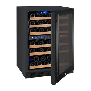 "Allavino 56 Bottles Right Allavino VSWR56-2BL20 Wine Refrigerator 24"" Wide 56 Bottle FlexCount II Series Dual Zone Black"