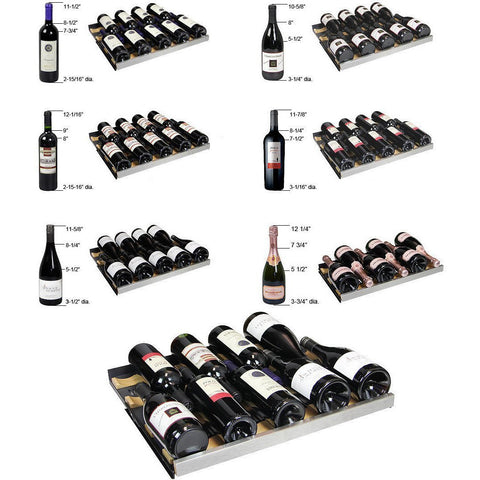 Allavino 3Z-VSWR7772-BWT 349 Bottle Flexcount Series Multi Zone Refrigerator Wine Cooler - Allavino - 349 Bottles
