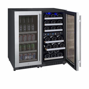 Allavino3Z-VSWB15-3SST  Flexcount Dual Zone Beverage Center and Wine Cooler