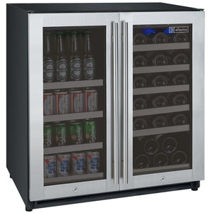 Allavino  VSWB30-2SSFN Flexcount Freestanding Beverage Center and Wine Cooler - Allavino - 30 Bottles
