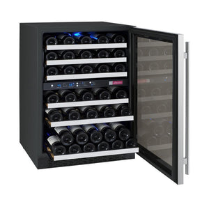 Allavino VSWR56-2SSRN 56 Bottle FlexCount Series Dual Zone Refrigerator Wine Cooler - Allavino - 56 Bottles