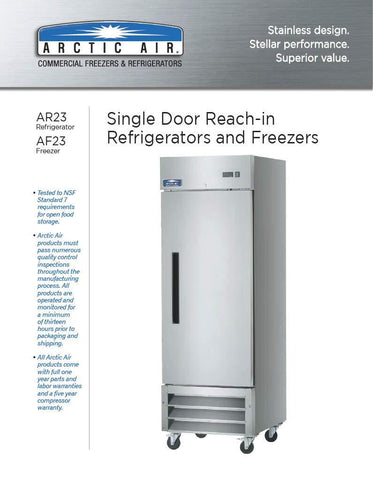 "Image of Arctic Air Reach In Refrigerator Arctic Air AR23 26"" Wide Reach In Refrigerator"