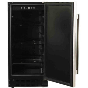 "Azure A115R-S Refrigerator- 3.0 Cu Ft 15"" Wide with Solid Stainless Door ADA Compliant - Azure - 3.0 cu ft"