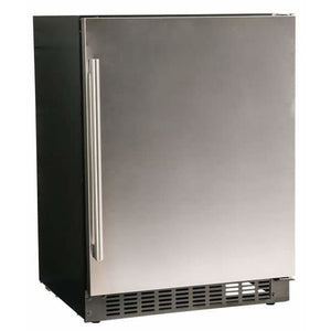 "Azure A124R-S Refrigerator - 5.1 Cu Ft 24"" Wide with Solid Stainless Door - Azure - 5.1 cu ft"