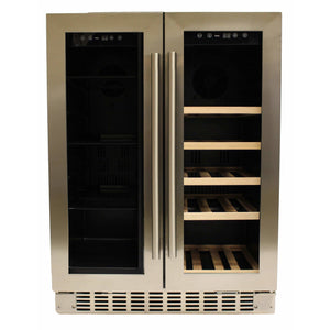 Azure A124DZ-S Dual Zone Wine Center- 20 Bottles 24