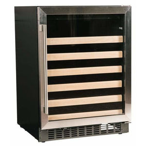 "Azure A124WC-S Wine Cooler- 48 Bottle 24"" Wide Single Zone with Stainless Trim Glass Door ADA Compliant - Azure - 48 Bottles"