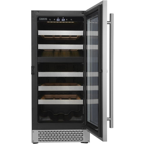 Cavavin V024WDZ Vinoa Series 15 Inch Wine Cooler with Dual Zone Temperatures for 24 Bottles - Cavavin - 24 Bottles