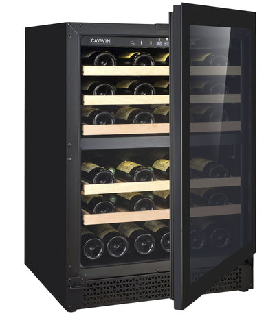 Image of Cavavin 41 Bottles Cavavin V041WDZFG 24 Inch Wine Cooler Dual Zone 41 Bottles