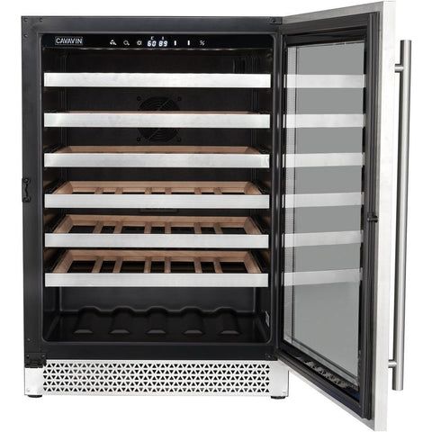 Cavavin V048WSZ Vinoa Series 24 Inch Wine Cooler with Single Zone Temperature for 48 Bottles - Cavavin - 48 Bottles