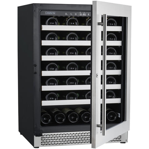 Image of Cavavin V048WSZ Vinoa Series 24 Inch Wine Cooler with Single Zone Temperature for 48 Bottles - Cavavin - 48 Bottles