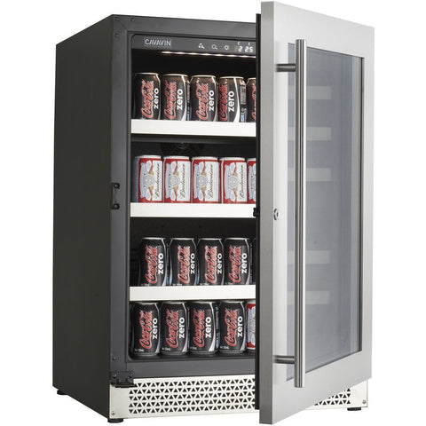 Image of Cavavin V050BVC Vinoa Series 24 Inch Wine and Beverage Center with Single Zone Temperature for 5.0 Cu Ft - Cavavin - 5.0 Cu Ft