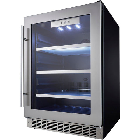 "Danby DBC056D4BSSPR Beverage Center-  5.6 CuFt 24"" Wide Built-In Single Zone 11 Bottles - Danby - 112 BC"