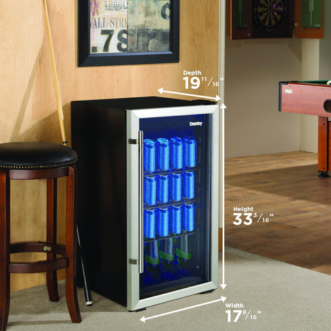 "Danby 117 BC Danby DBC117A2BSSDD-6 Beverage Center 3.1 Cu Ft 17.5"" Wide Single Zone"
