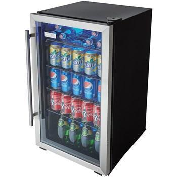 "Danby  DBC93BLSDD Beverage Center 3.3 Cu Ft 17.5"" Wide Single Zone, w/ Reversible Door - Black/Stainless - Danby - 120 BC"