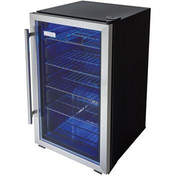 "Image of Danby  DBC93BLSDD Beverage Center 3.3 Cu Ft 17.5"" Wide Single Zone, w/ Reversible Door - Black/Stainless - Danby - 120 BC"