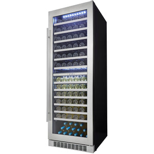 "Danby  DWC140D1BSSPR Tall Wine Cooler Silhouette Professional 129 Bottles 24"" Wide Built-in Dual Zone w/ Stainless Steel Stamped Door - Danby - 129 Bottles"
