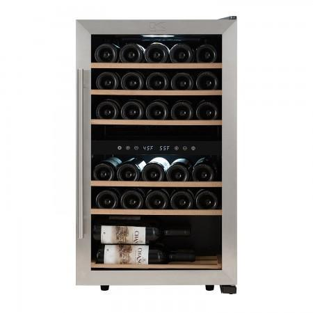 "Image of Kalorik  WCL 44446 Wine Cooler Bottles 19"" Dual Zone Stainless Steel Freestanding - Kalorik - 29 Bottles"