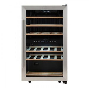 "Kalorik  WCL 44446 Wine Cooler Bottles 19"" Dual Zone Stainless Steel Freestanding - Kalorik - 29 Bottles"