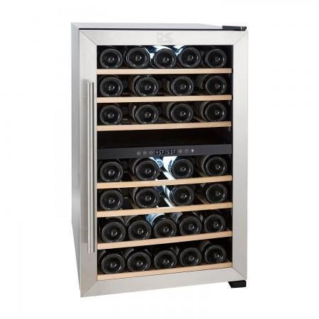 "Image of Kalorik  WCL 44447 SS Wine Cooler 43 Bottles 19"" Dual Zone Stainless Steel Freestanding - Kalorik - 29 Bottles"
