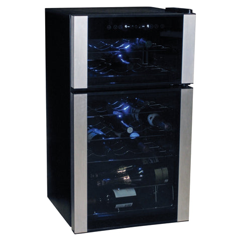 Image of Koolatron WC29 Wine Cooler   29 Bottle Dual Zone Wine Cooler - Koolatron - 29 Bottles