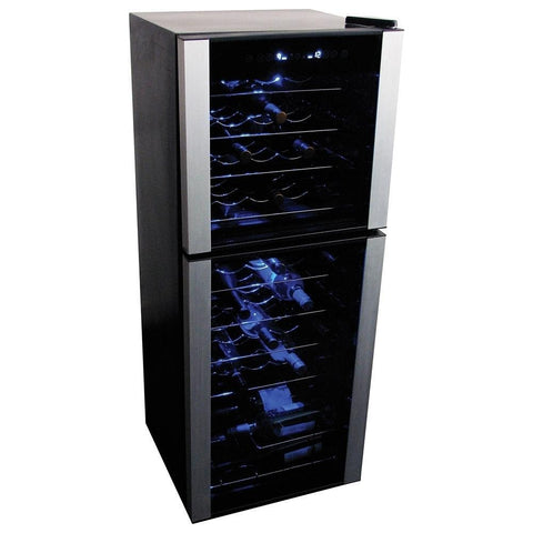 Koolatron WC45 Wine Cooler  45 Bottle Dual Zone Wine Cooler - Koolatron - 45 Bottles