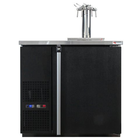 "Micro Matic 4 Keg Dispenser Micro Matic MDD36W-E-C 36 3/4"" 4 Keg Pro-Line Wine E-Series"