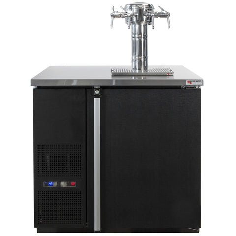 "Micro Matic 4 Keg Dispenser Micro Matic MDD36W-E-E 36 3/4"" 4 Keg Pro-Line Wine E-Series"