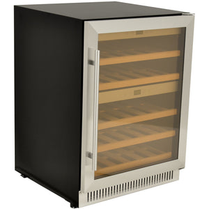 "Omcan  WC-CN-0040-D Wine Cooler 40 Bottles 24"" Wide Dual Zone Under Counter with Digital LED Display - Omcan - 181 Bottles"