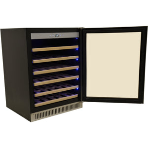 "Omcan  WC-CN-0051-S Wine Cooler  51 Bottles 24"" Wide Single Zone Under Counter with Digital LED Display - Omcan - 51 Bottles"