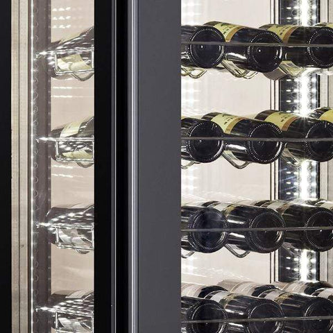 "Image of Omcan  WC-CN-0400 Wine Cooler 81 Bottles 26"" Wide Single Zone with Open Glass Display - Omcan - 81 Bottles"