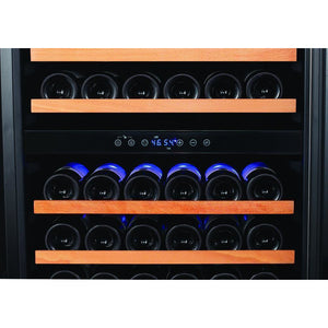 "Smith & Hanks RW428DRG 24"" Wide 166 Bottle Signature Dual Zone Smoked Black Wine Cooler RE100017 - Smith & Hanks - 166 Bottles"