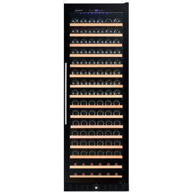 "Smith & Hanks RW428SRG 24"" Wide 166 Bottle Signature Single Zone Smoke Black Wine Cooler RE100014 - Smith & Hanks - 166 Bottles"