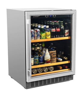 "Smith & Hanks 178 Cans Smith & Hanks Beverage Cooler 24"" Single Zone Stainless Steel BEV145SRE"