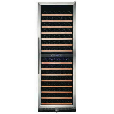 "Smith & Hanks RW428DR 24"" Wide 166 Bottle Signature Dual Zone Wine Cooler RE100004 - Smith & Hanks - 166 Bottles"